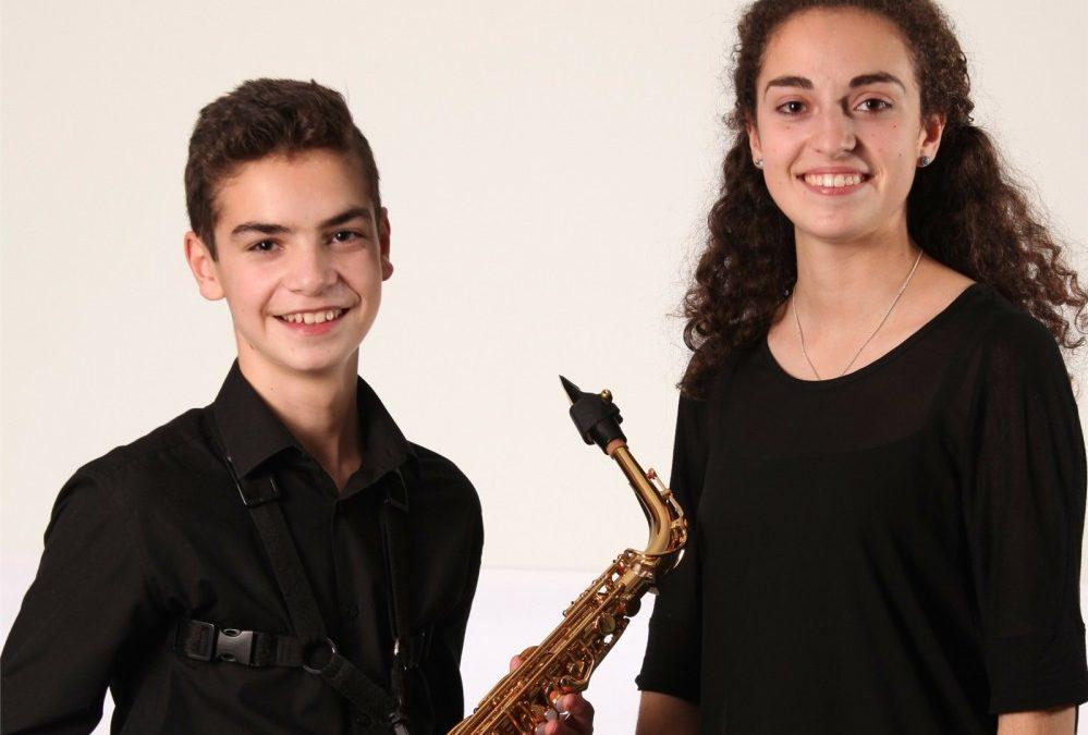 """""""Dúo Índice""""      Alfonso Huerta Fernández (saxofón) y Ana Huerta Fernández (piano)"""