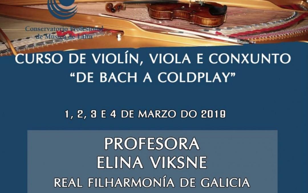 """Curso de violín, viola e conxunto """"De Bach a Coldplay"""""""