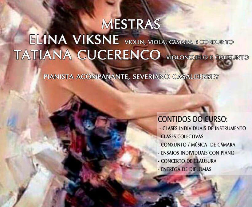 Curso de violín, viola, violonchelo, música de cámara e conxunto